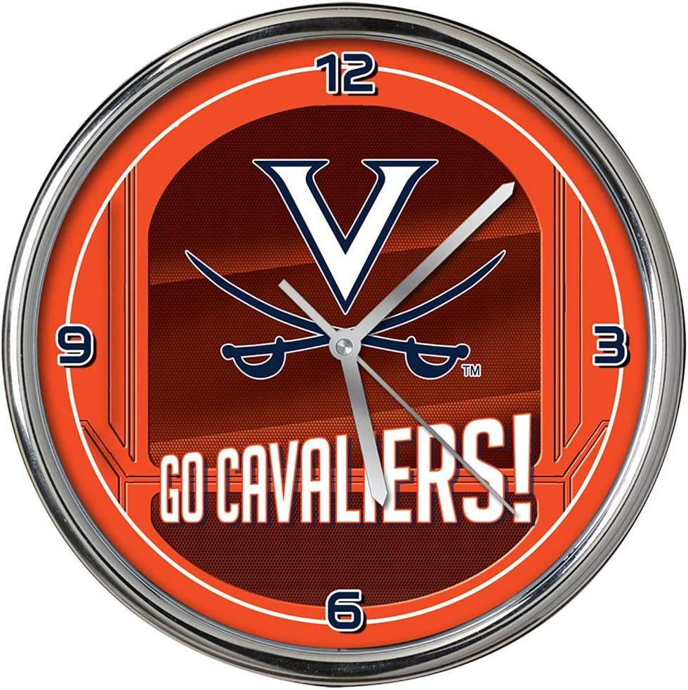 NCAA Limited time cheap sale The University of Virginia Go Clock One Team shipfree Size Chrome