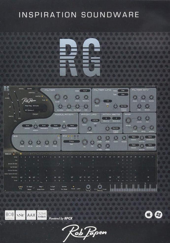 リンケージブルーベル厳密にRob Papenプラグイン リズムギター音源 RG (アールジー)