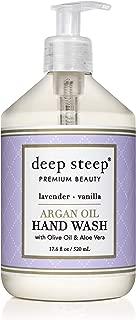 Deep Steep Argan Oil Liquid Hand Wash, Lavender Vanilla, 17.6 Fluid Ounce