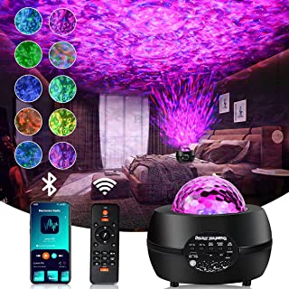 Star Projector, Starry & Ocean Wave 2 in 1 Galaxy Light Projector with Remote Control, 10 Colors, 3 Lighting Mode, Built-i...