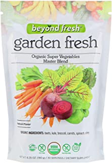 Garden Fresh Organic Super Vegetables Master Blend Natural Flavor by Beyond Fresh, 180 Grams, 180 Gram