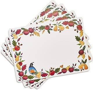 Sur La Table Fall Harvest Cork Placemats, Set of 4