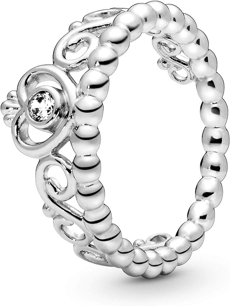 Pandora - anello, argento stearling, donna 190880CZ-52