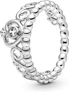 Pandora Jewelry Princess Tiara Crown Cubic Zirconia Ring in Sterling Silver