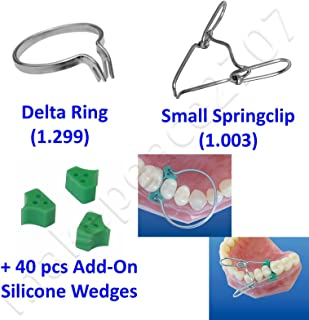 Delta Ring +Springclip +40pcs Elastic Wedges Sectional Contoured Matrices Matrix