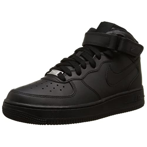 low priced aec22 9e4f9 Nike Unisex Kids  Air Force 1 Mid (GS) Hi-Top Trainers