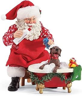 Department 56 Possible Dreams Santa and His Pets Splish Splash Figurine Set, 9 Inch, Multicolor