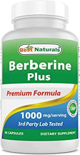 Best Naturals Berberine Plus 1000mg/Serving, Supports Healthy Glucose Metabolism (Non-GMO), 60 Capsules