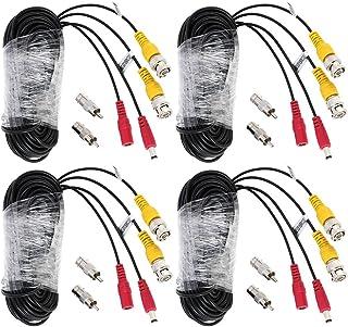 KKmoon 4pcs 65pies Cable BNC Cable Video Cable de Alimentación para Cámara de Vigilancia CCTV / DVR