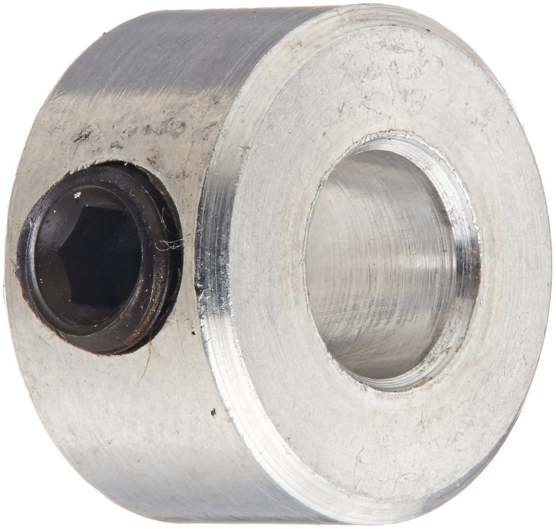 Black Oxide Plating With M6 x 6 Set Screw 12mm Bore Size Climax Metal MC-12 Steel Set Screw Collar Metric 22mm OD