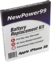 NewPower99 Battery Replacement Kit for iPhone 3G with Installation Video, Tools, and Extended Life Battery.