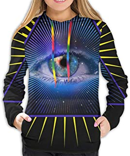 Summermf Womens Sweatshirts All Seeing Eye Pyramid Symbol Providence Hoodies 3D Print Pullover Hoodie Hooded Clothes Pockets