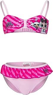 6 Anni, Celeste Lol Surprise Costume da Mare Bagno Bikini 2 Pezzi
