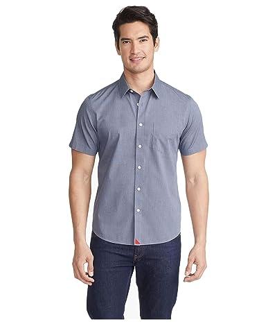 UNTUCKit Wrinkle-Free Short Sleeve Shirt (Navy) Men