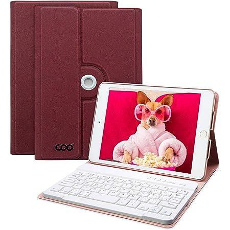 COO Funda con Teclado iPad Mini 4, Funda iPad Mini 4 Ultraliviano con Teclado Español Bluetooth Inalámbrico para iPad Mini 4 con Visión de Multiángulo ...
