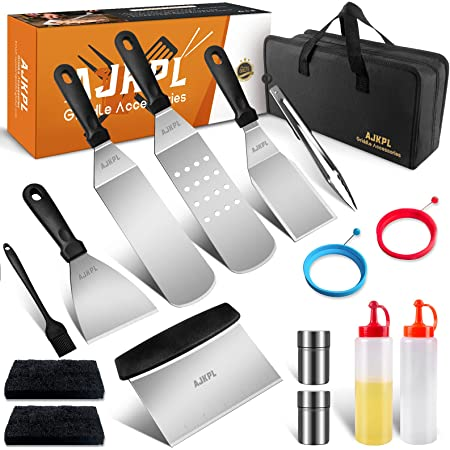Outdoor BBQ 10 PCS Griddle Barbecue Tools Kit Blackstone Grill Accessories Set