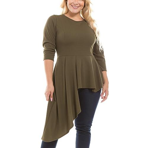 94233e5025 Bubble B Women s Junior Plus Size Dressy Tunic Top
