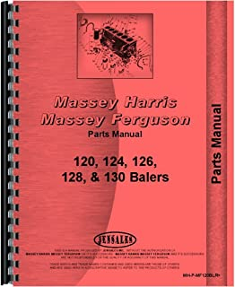 Parts Manual For Massey Ferguson 120 124 126 128 130 Twine Tie Baler