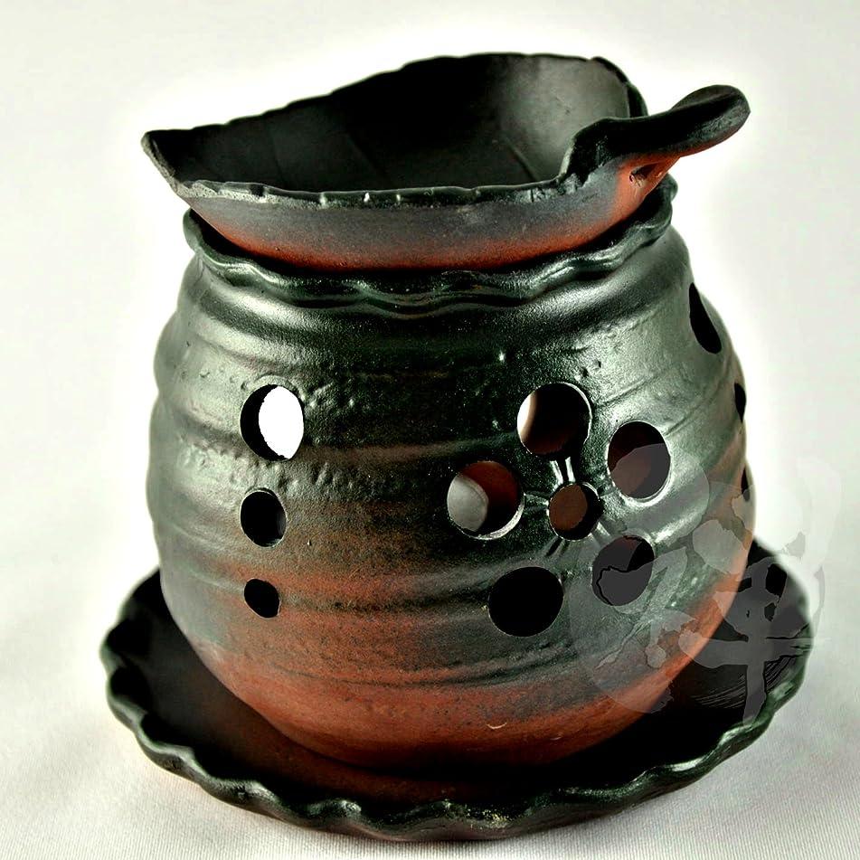 ハウジング自分を引き上げるバラエティ常滑焼 ゆとり 茶香炉 13.2*11.5cm[2989]