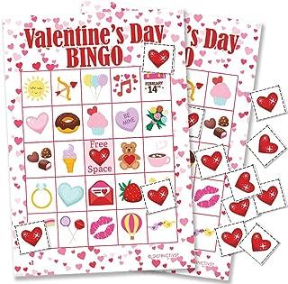 Valentine's Day Kids Bingo Game, 24 Players