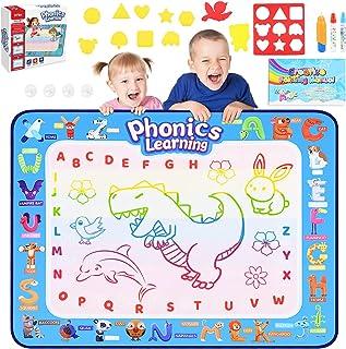 Dreamingbox Tapis de Dessin Eau 100x78cm Tapis de Peinture pour Enfants en Plusieurs Couleurs - Jouets Educatifs et Meille...