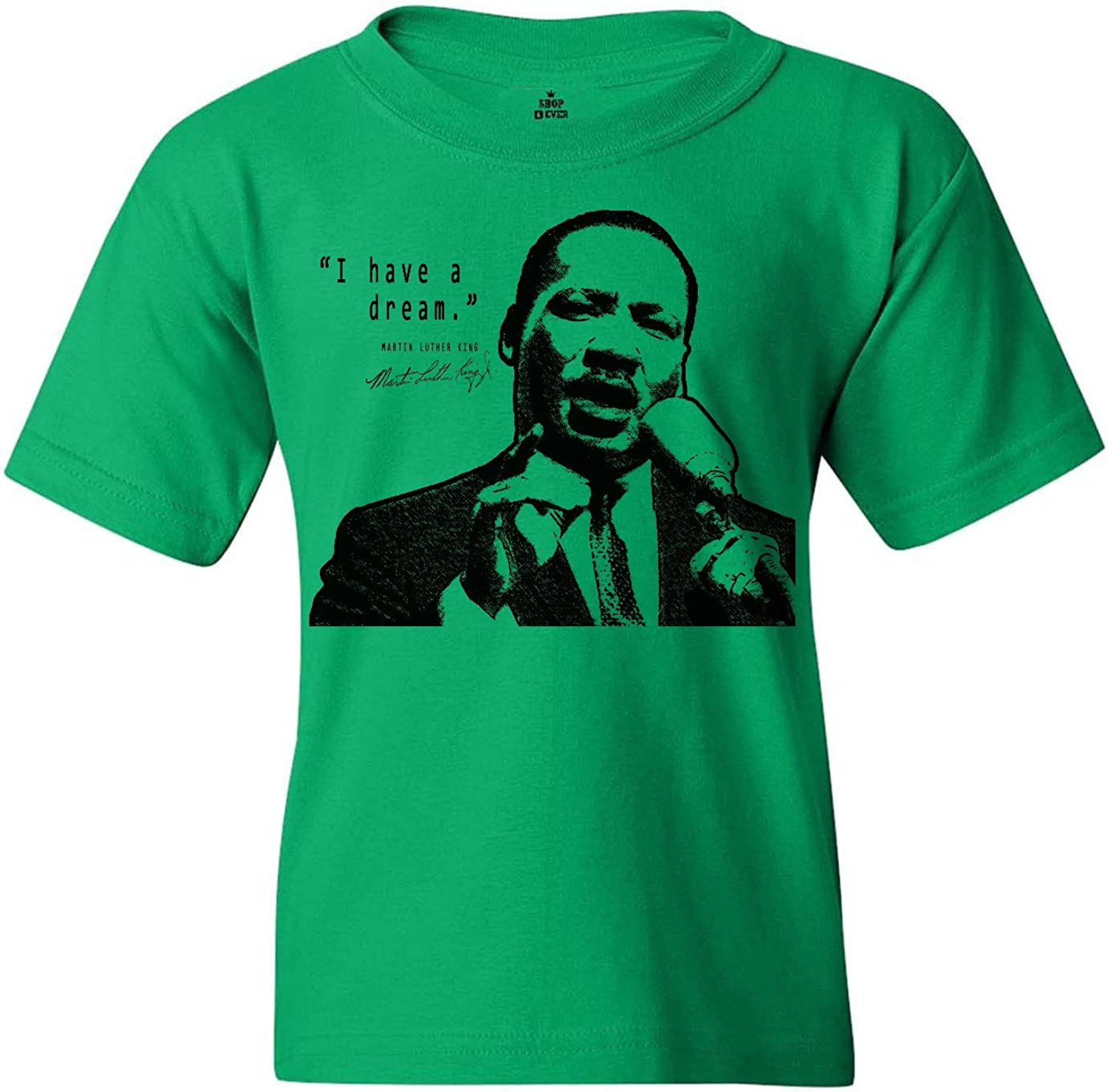 shop4ever I Have A Dream Youth's T-Shirt Martin Luther King Jr. Shirts