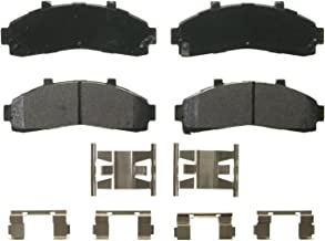 Wagner QuickStop ZX652 Semi-Metallic Disc Pad Set Includes Pad Installation Hardware, Front