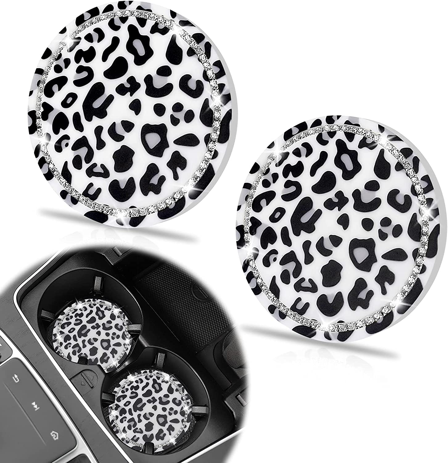 cheap 2 Pack Car Coasters SHANSHUI for Denver Mall Cute Bling Cup Ho