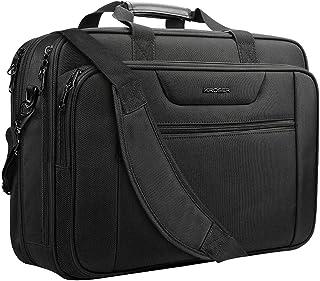 "KROSER 18.5"" Laptop Bag XXL Laptop Briefcase Fits Up to 18 Inch Laptop Water-Repellent Gaming Computer Bag Shoulder Bag Expandable Capacity for Travel/Business/School/Men-Black"