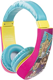 Barbie HP2-04081 Kid Safe Over the Ear Headphone with Volume Limiter by Sakar