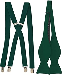 Self Tie Bowtie and Suspender set Variety of Colors