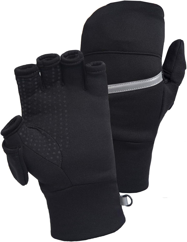 TrailHeads Men's Power Stretch Convertible Mittens   Fingerless Gloves