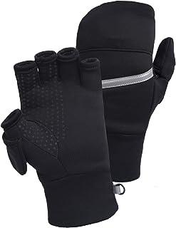 TrailHeads Men's Power Stretch Convertible Mittens | Fingerless Gloves