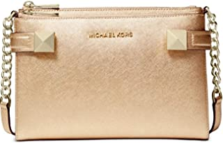 MICHAEL Michael Kors Karla Medium East West Crossybody Pale Gold