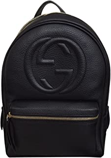 48643468496e Gucci Soho Black Backpack Calf Leather Backpack Ladies Bag Italy New