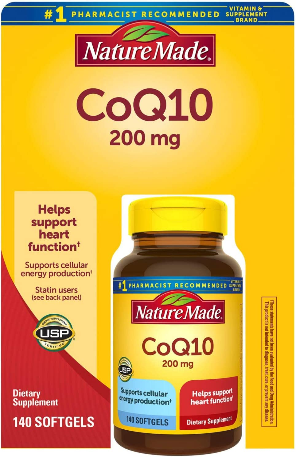 Nature Made Complete Free Shipping Naturally szmVN Orange CoQ Softgels mg 200 Luxury goods 10 140