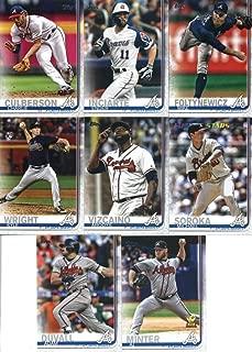 2019 Topps Complete (Series 1 & 2) Baseball Atlanta Braves Team Set of 23 Cards: Ronald Acuna Jr.(#1), Kolby Allard(#38), Touki Toussaint(#61), SunTrust Park(#71), Julio Teheran(#118), Freddie Freeman(#183), Dansby Swanson(#191), Tyler Flowers(#244), Kevin Gausman(#317), Nick Markakis(#350), Charlie Culberson(#369), Ender Inciarte(#385), Mike Foltynewicz(#387), Sean Newcomb(#408), Michael Soroka(#414), A.J. Minter(#467), Kyle Wright(#473), plus more