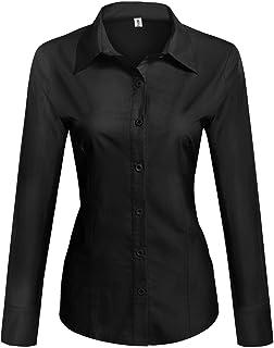 best website a71c1 d3352 Amazon.it: camicia nera donna: Abbigliamento