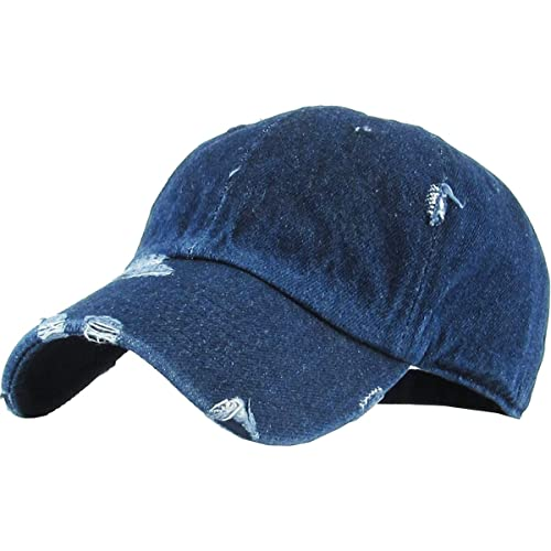 21b2736bd79 KBETHOS Vintage Washed Distressed Cotton Dad Hat Baseball Cap Adjustable  Polo Trucker Unisex Style Headwear