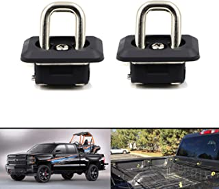 Tie Down Anchors Truck Bed Side Wall Anchors Hook Ring 1000 Pound for 2007-2018 Silverado & Sierra / 2015-2018 Sierra & Canyon 2pcs