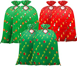 """Christmas large bag Jumbo Gift Bag,Christmas Giant Gift Bags extea-Large-Gift-Bag for Gifts - 36"""" x 44"""" Christmas Prints"""