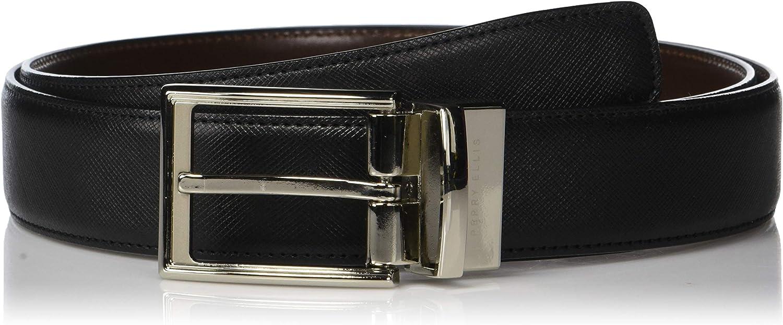 Perry Ellis Men's Portfolio Saffiano Reversible Belt
