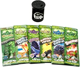 Juicy Hemp Wraps All Natural Variety Pack 6 Pack with KC Pop Top