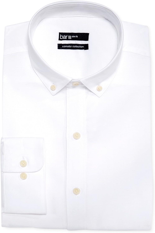 bar III Mens Slim Fit Lightweight Button Up Dress Shirt
