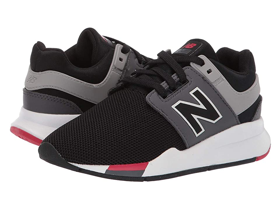 New Balance Kids PS247v2 (Little Kid) (Black/Mineral Rose) Boys Shoes