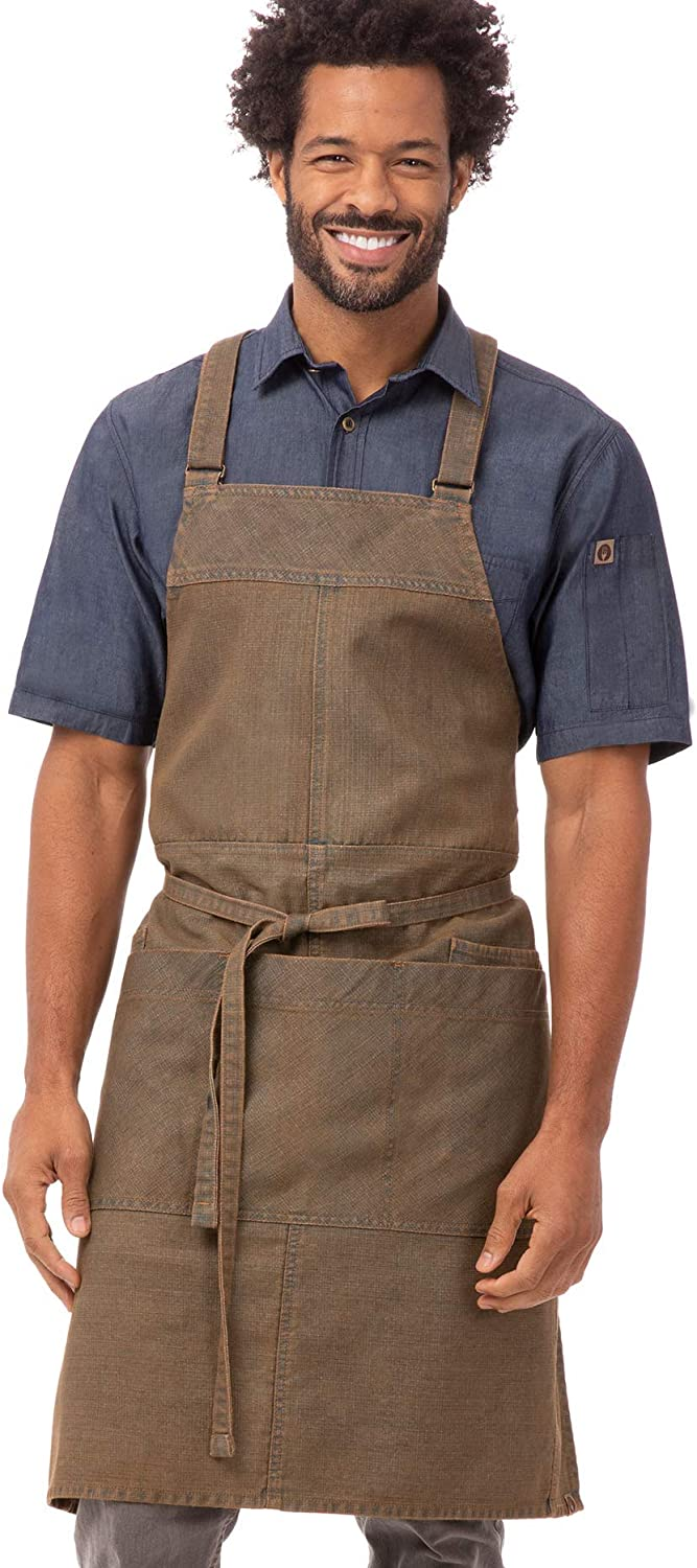 Chef Works Unisex Uptown Al Max 43% OFF sold out. Bib Cross-Back Apron