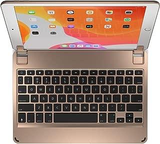 Brydge 10.2 Keyboard for Apple iPad (2019) | Aluminum Bluetooth Keyboard with Backlit Keys (Gold)