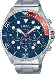 Lorus Casual Watch For Men - Round, Stainless Steel, RT317GX9