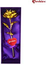 Archies Friendship's Day Special 24K Gold Rose with Beautiful Gift Box and Carry Bag, (30x9x9cm) Gold Rose for Girlfriend/Boyfriend- 1 PC