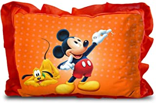 Generic 3D Cartoon Printed Micro Fabric Velvet Pillow (Red, 14 X 20 Inches)